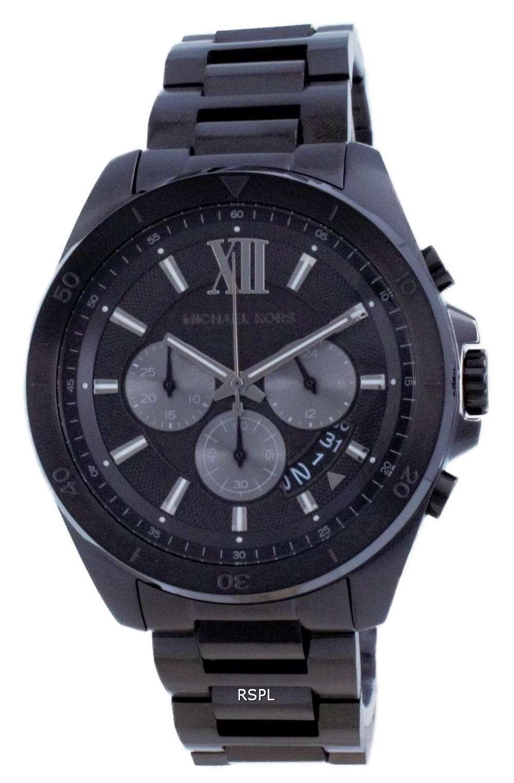 Michael Kors Brecken Cronógrafo de acero inoxidable de cuarzo MK8858 100M Reloj para hombre