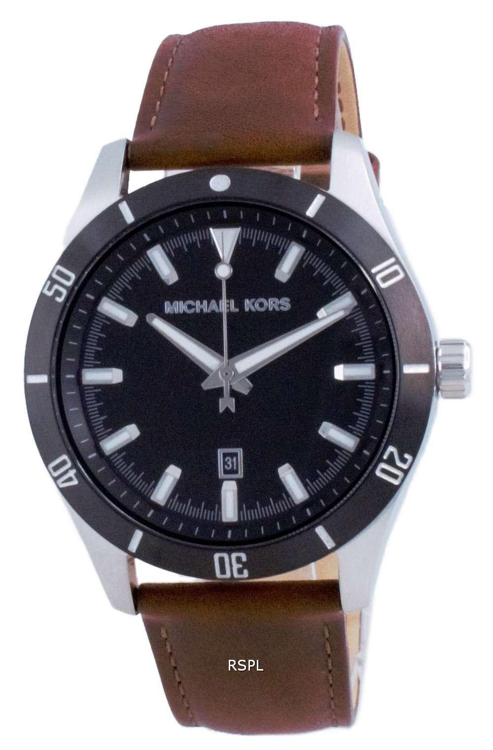 Michael Kors Layton Leather Quartz MK8859 Reloj para hombre