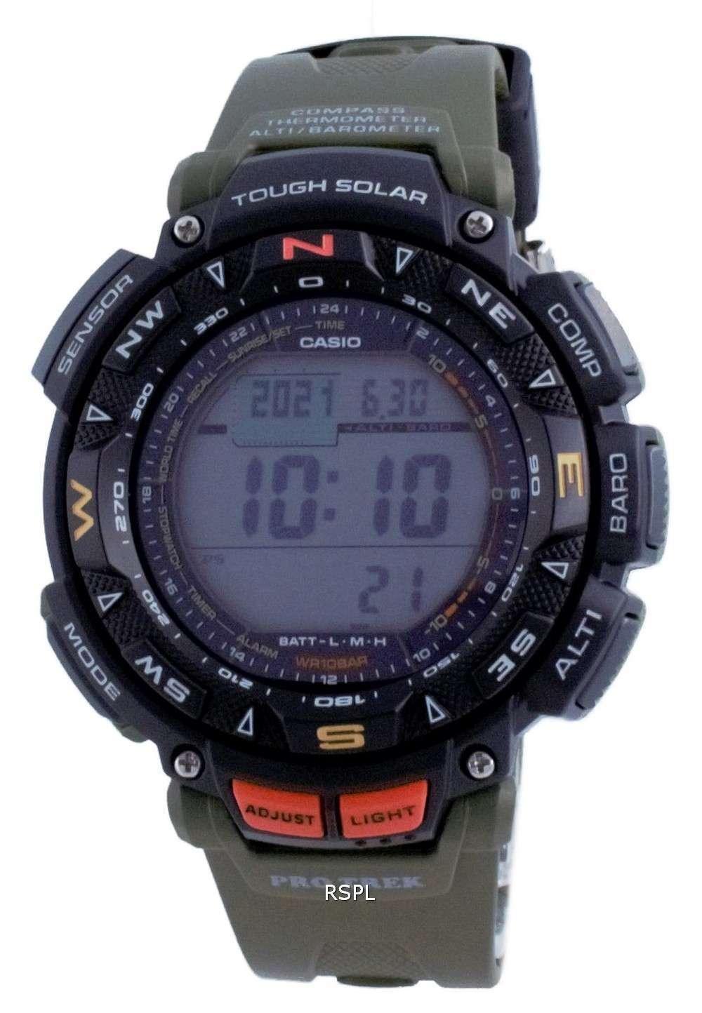 Reloj Casio Protrek Tough Solar Digital Compass PRG-240-3 PRG240-3 100M para hombre