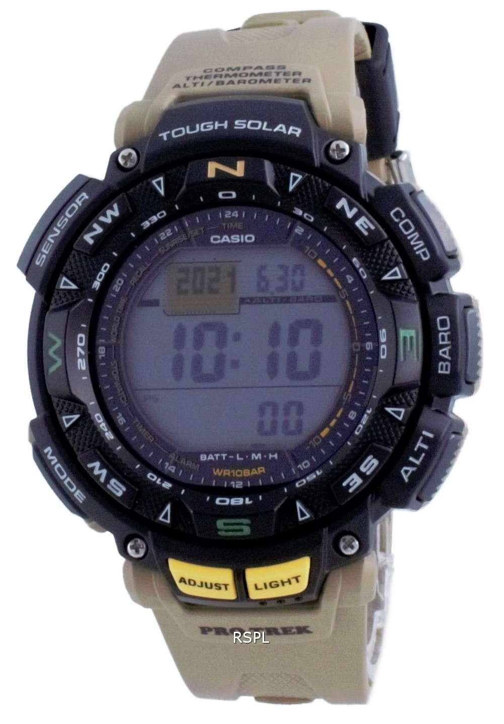 Reloj Casio Protrek Tough Solar Digital Compass PRG-240-5 PRG240-5 100M para hombre