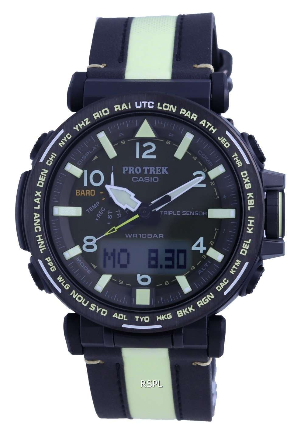 Reloj Casio Protrek Solar Analog Digital PRG-650YL-3 PRG650YL-3 100M para hombre