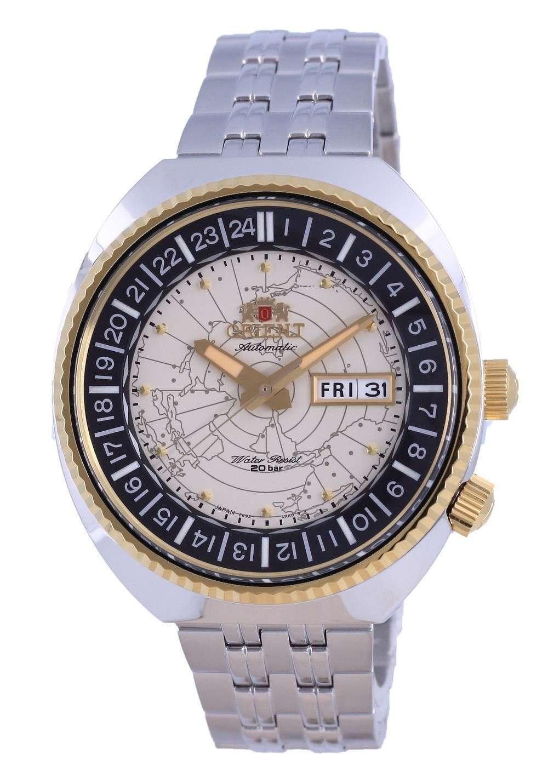 Reloj para hombre Orient World Map Revival Diver&#39,s Automatic RA-AA0E01S09C 200M