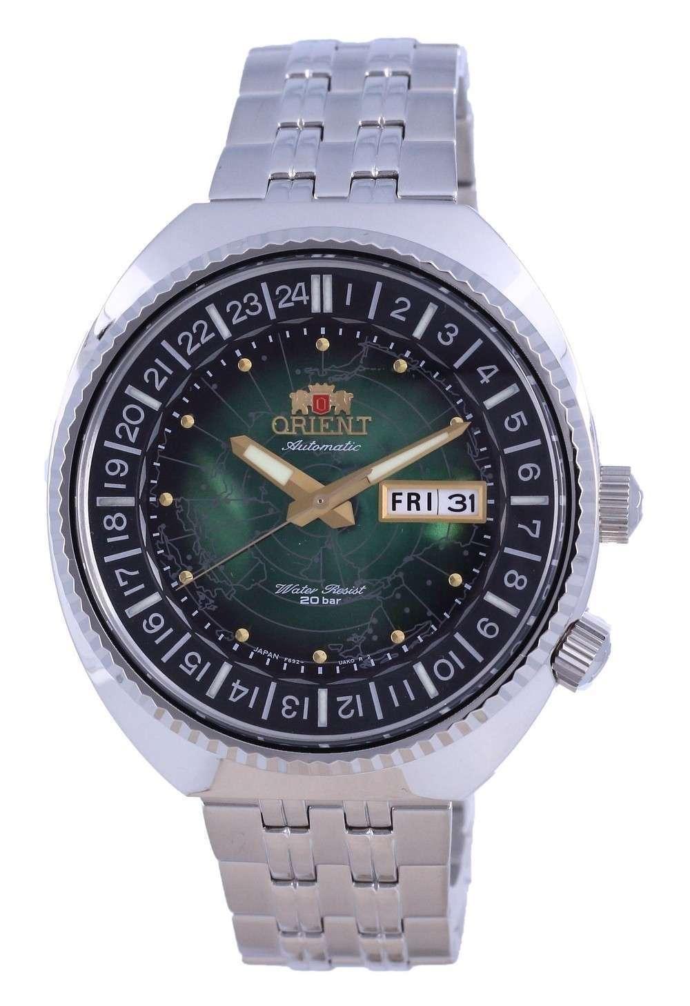 Reloj para hombre Orient World Map Revival Diver&#39,s Automatic RA-AA0E02E09C 200M