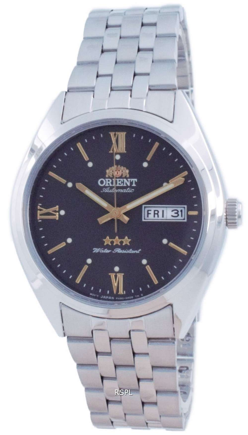 Reloj para hombre Orient Tri Star con esfera gris de acero inoxidable automático RA-AB0E14N19B