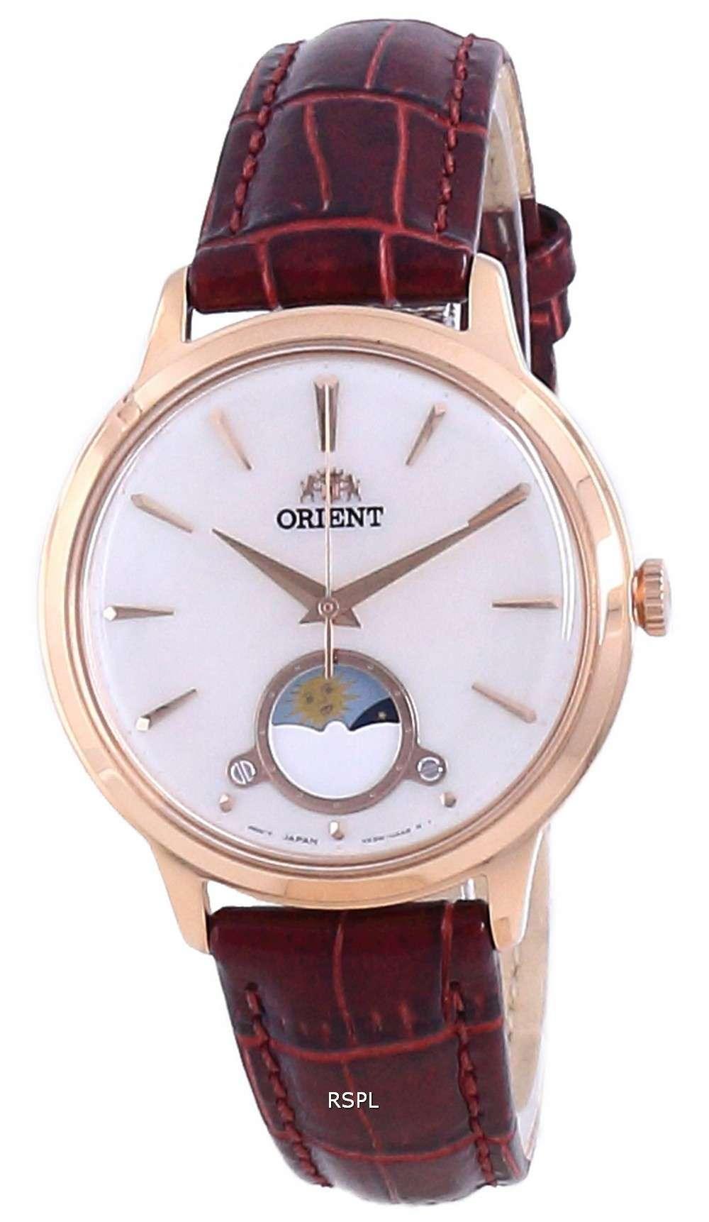 Orient Sun &amp, Moon Leather Quartz RA-KB0002A10B Reloj para mujer