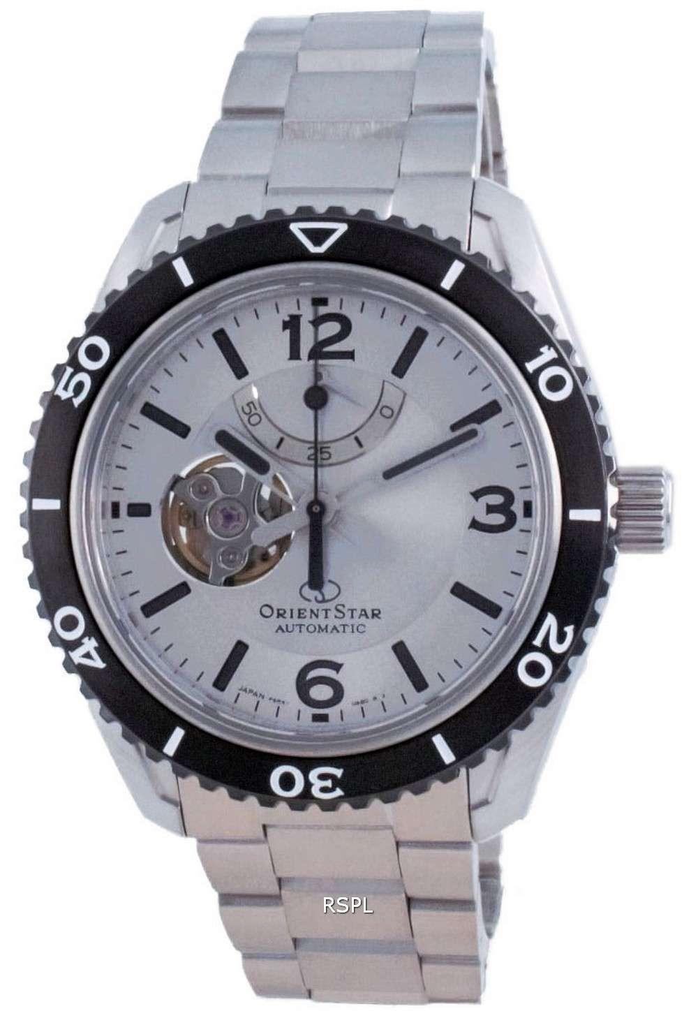Reloj para hombre Orient Star Open Heart Automatic Diver&#39,s RE-AT0107S00B 200M