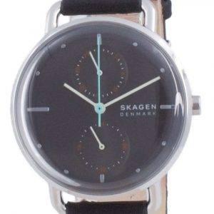 Skagen Horizont Reloj de cuarzo de cuero con esfera gris SKW2930 para mujer