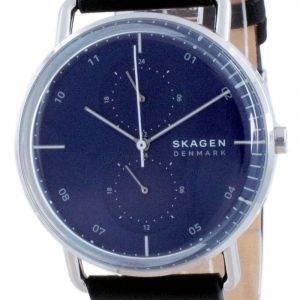 Reloj para hombre Skagen Horizont con esfera azul de cuero y cuarzo SKW6702
