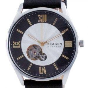 Reloj para hombre Skagen Holst Open Heart Leather Automático SKW6710