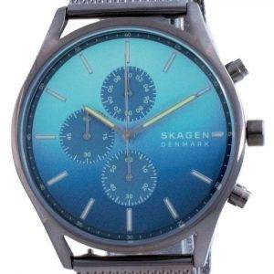 Reloj Skagen Holst Cronógrafo con esfera azul y cuarzo SKW6734 para hombre
