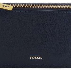 Fossil Logan Blue Zip Closure SL7925406 Tarjetero para mujer