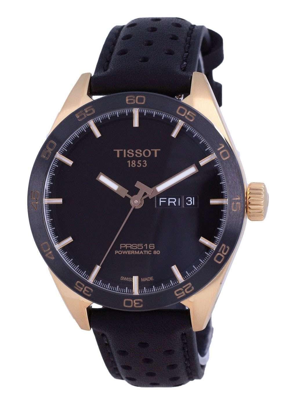 Tissot T-Sport PRS 516 Powermatic 80 T100.430.36.051.01 T1004303605101 100M Reloj para hombre