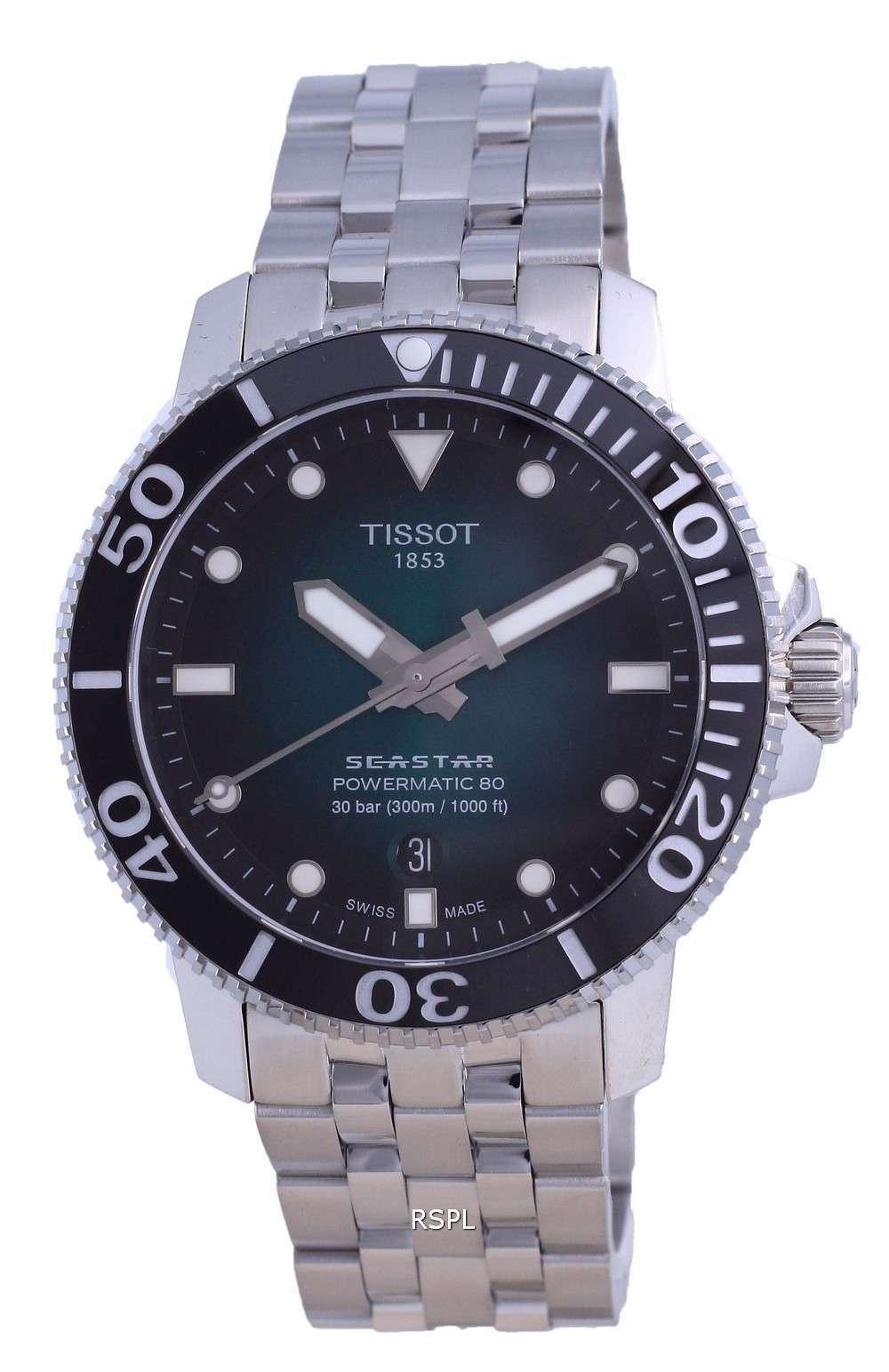 Tissot T-Sport Seastar 1000 Powermatic 80 Diver&#39,s Automatic T120.407.11.091.01 T1204071109101 300M Reloj para hombre