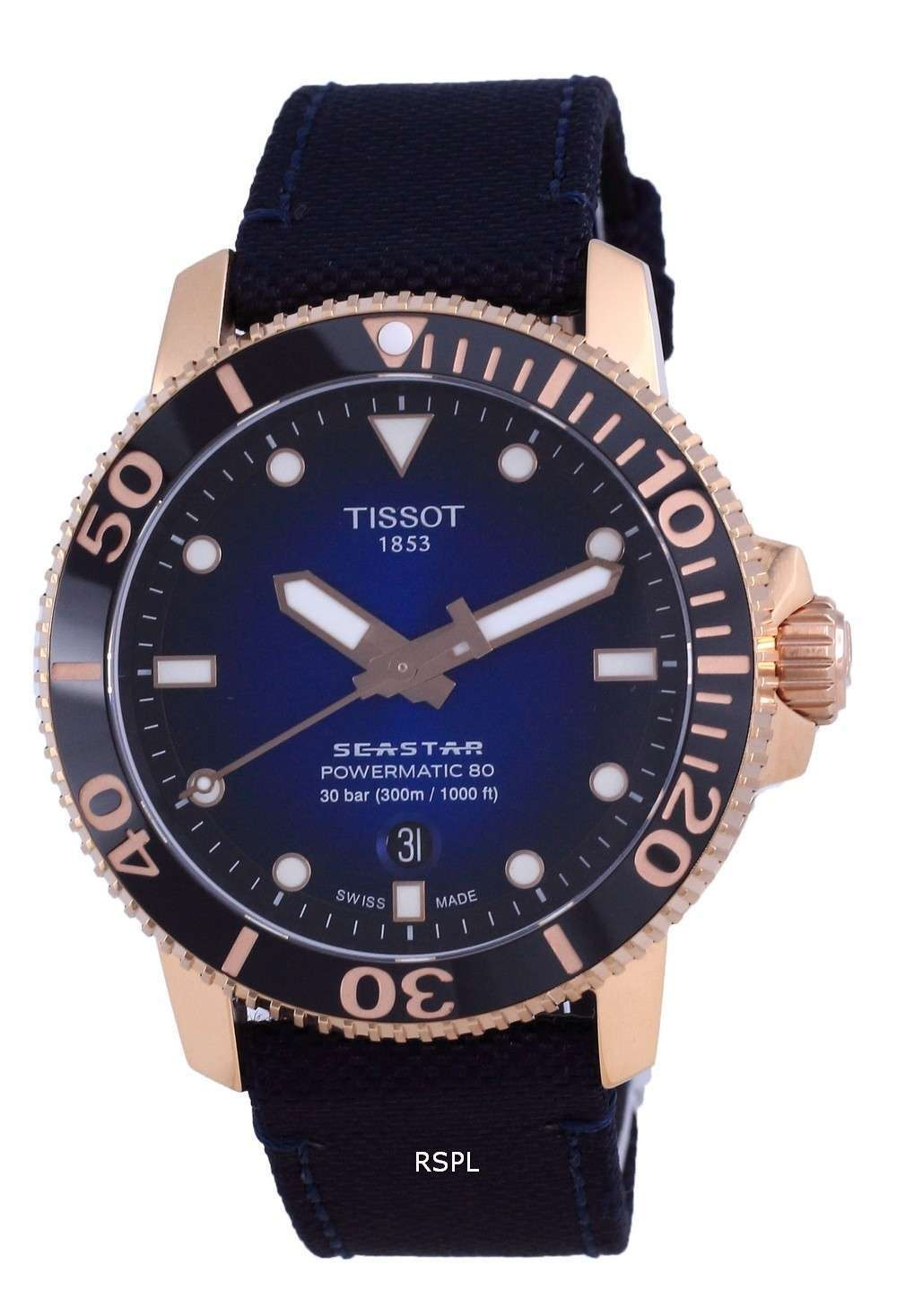 Tissot T-Sport Seaster 1000 Powermatic 80 Diver&#39,s Automatic T120.407.37.041.00 T1204073704100 300M Reloj para hombre