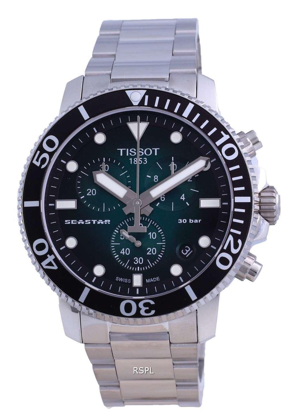 Tissot T-Sport Seaster 1000 Chronograph Diver&#39,s Quartz T120.417.11.091.01 T1204171109101 300M Reloj para hombre