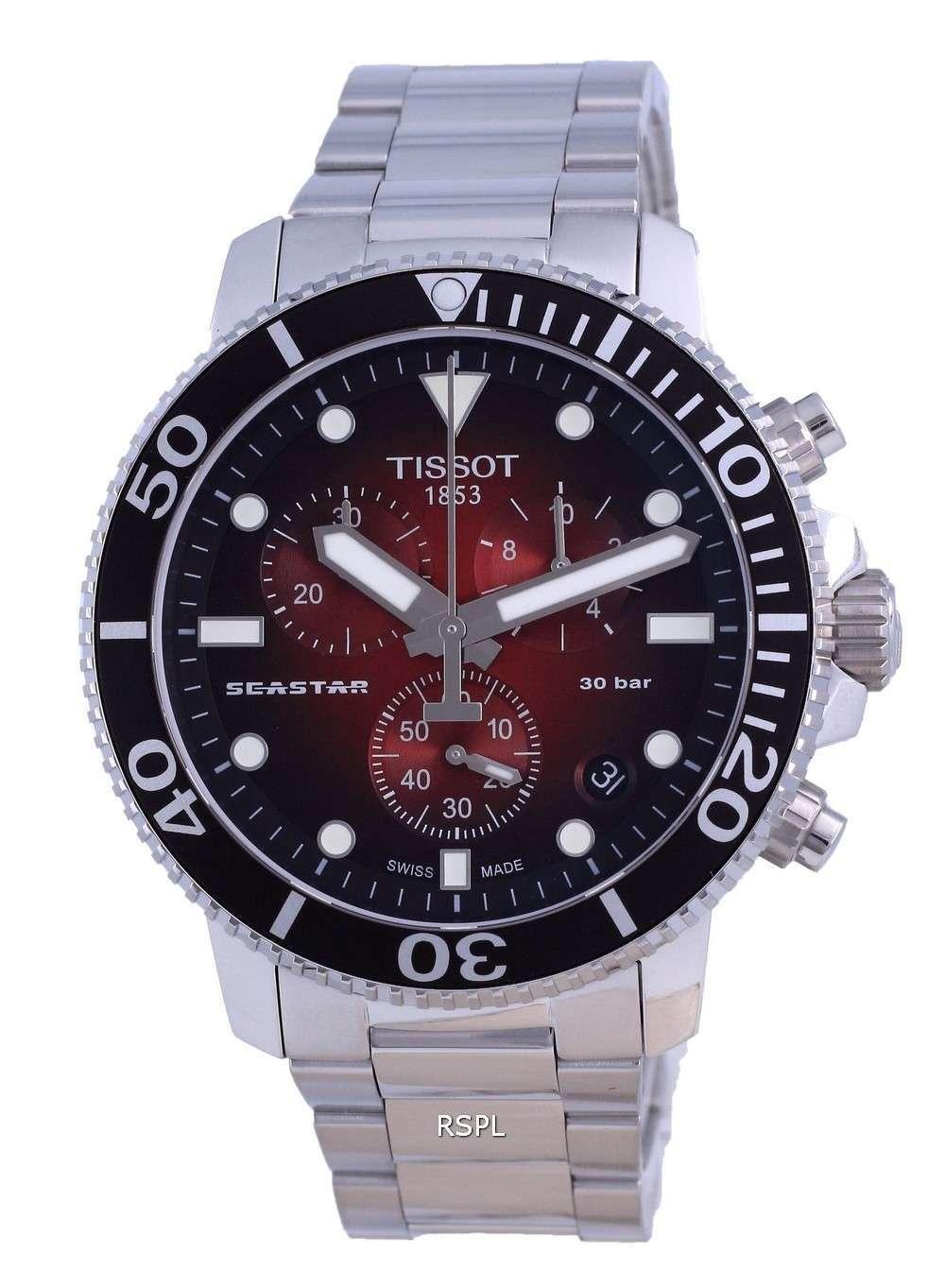 Tissot T-Sport Seaster 1000 Chronograph Diver&#39,s Quartz T120.417.11.421.00 T1204171142100 300M Reloj para hombre