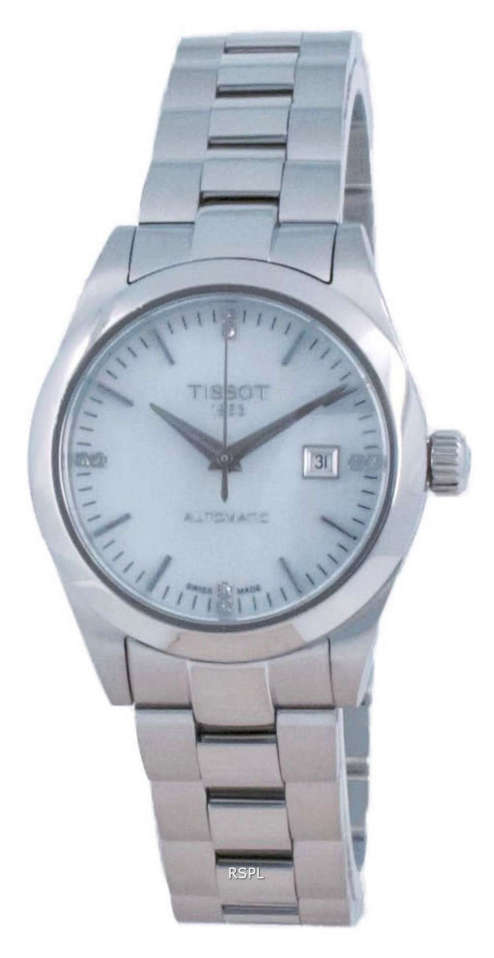 Tissot T-My Lady Automatic Diamond Accents T132.007.11.116.00 T1320071111600 100M Reloj para mujer