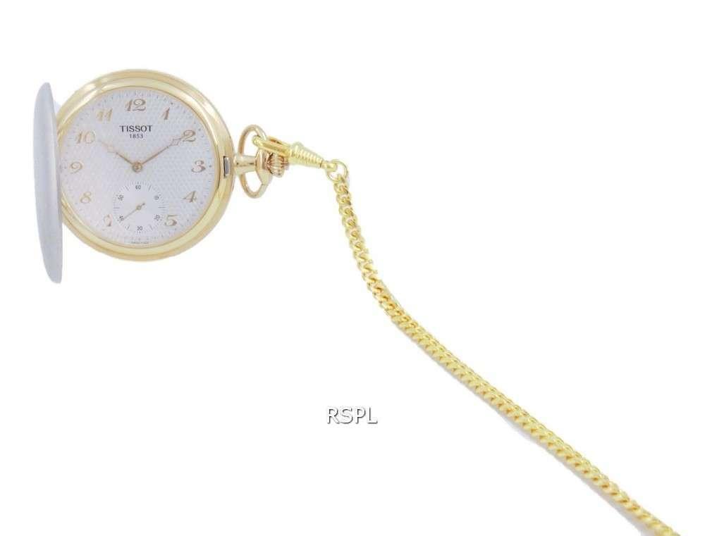 Reloj de bolsillo Tissot T-Pocket Savonnettes Quartz T83.9.459.32 T83945932
