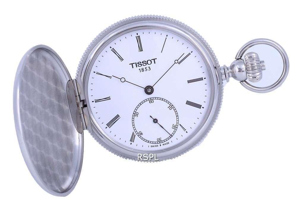 Tissot T-Pocket Savonnette Mechanical T867.405.19.013.00 T8674051901300 Reloj de bolsillo