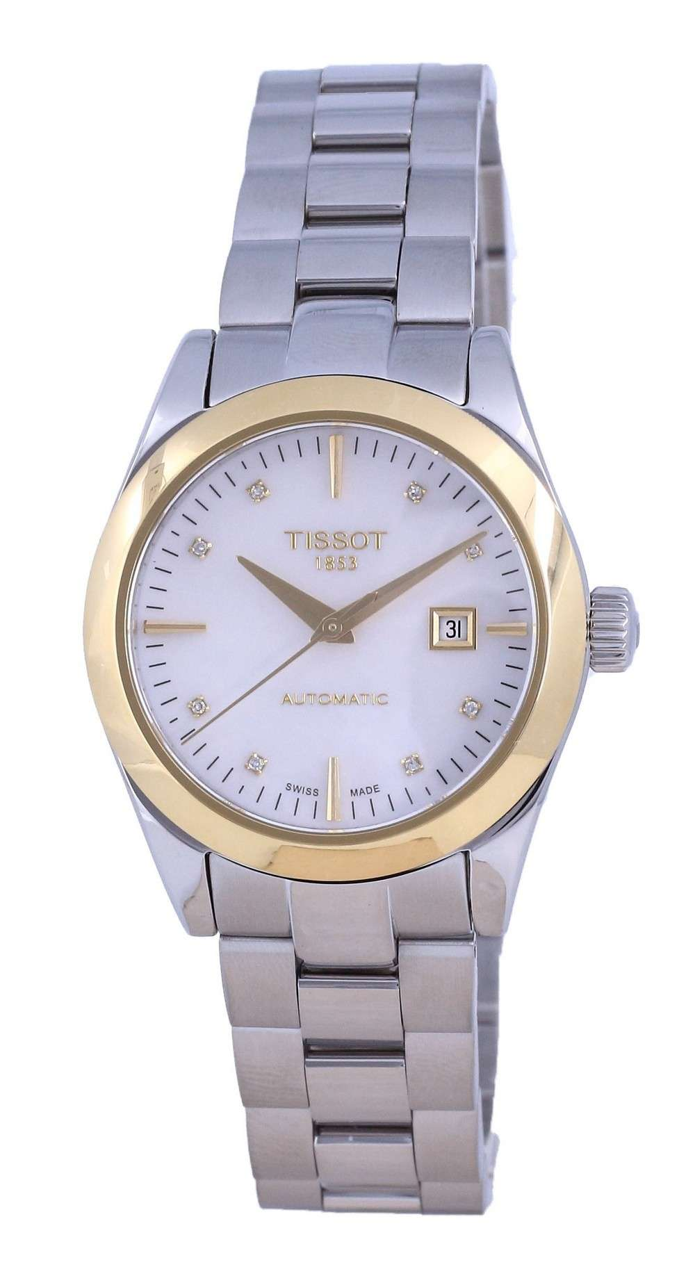 Tissot T-Gold T-My Lady 18K Gold Diamond Acentos Automático T930.007.41.116.00 T9300074111600 Reloj para mujer