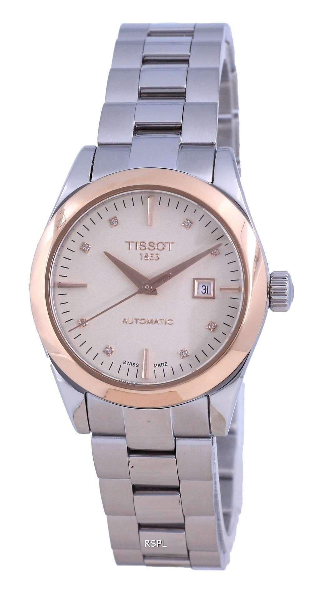 Tissot T-Gold T-My Lady Diamond Accents 18K Gold Automatic T930.007.41.266.00 T9300074126600 Reloj para mujer