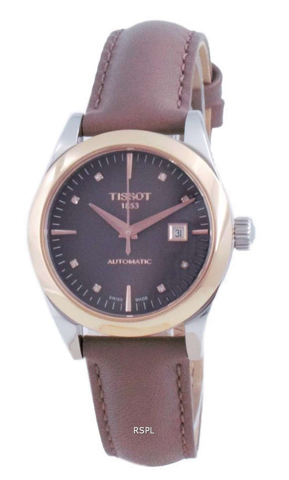 Tissot T-My Lady 18K Gold Diamond Accents Automatic T930.007.46.296.00 T9300074629600 Reloj para mujer