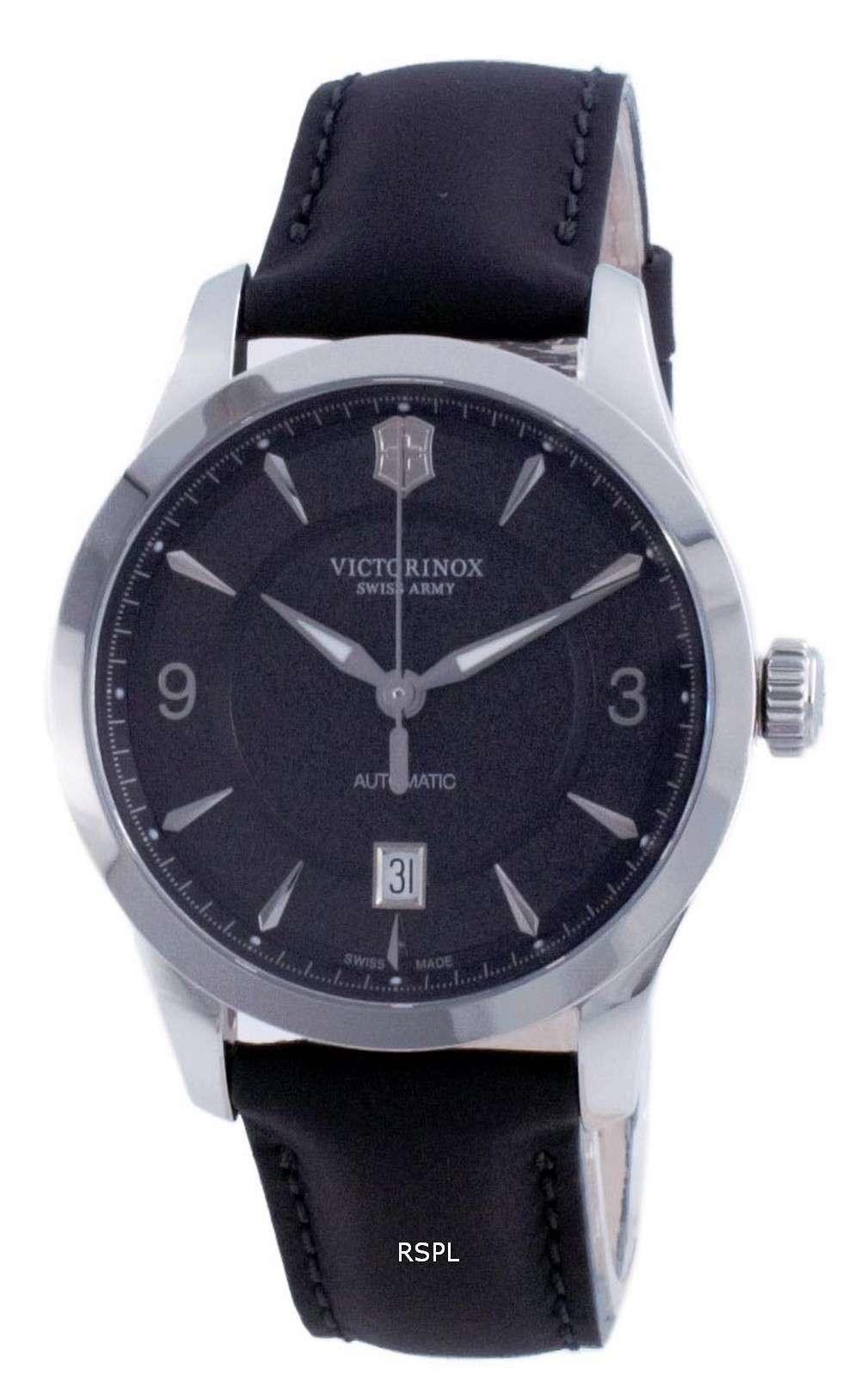 Victorinox Alliance Swiss Army Black Dial Automatic 241869 100M Reloj para hombre