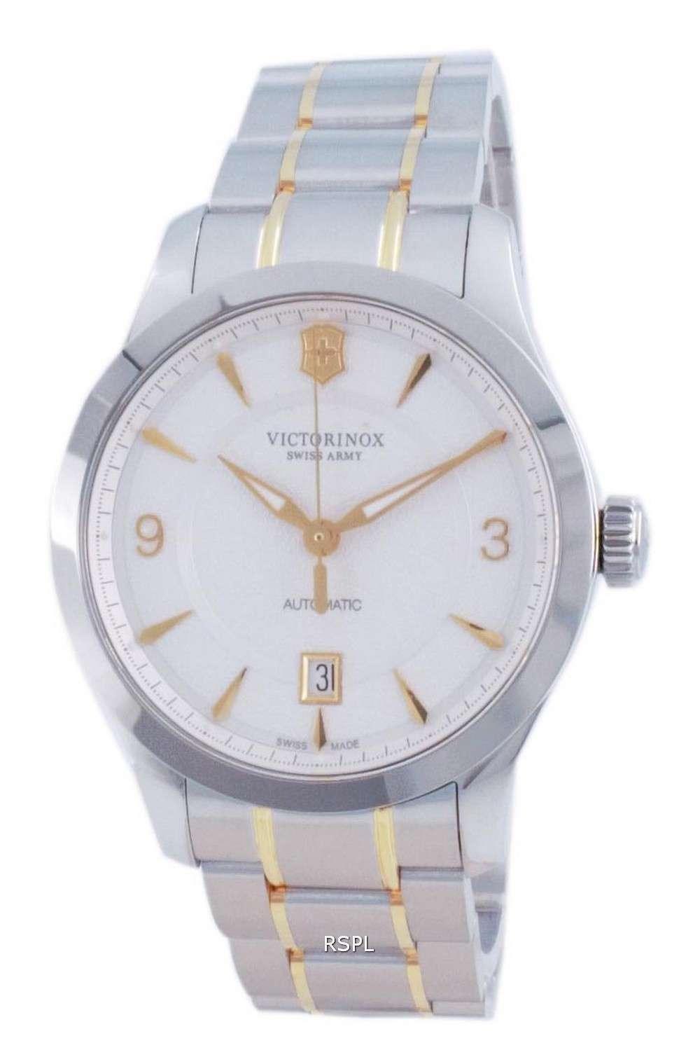 Victorinox Alliance Swiss Army White Dial Automatic 241874 100M Reloj para hombre
