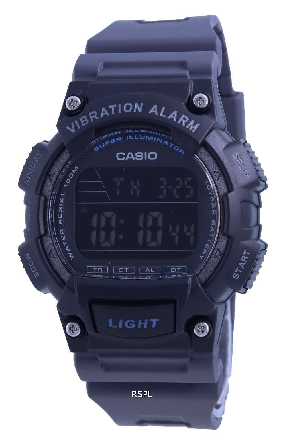 Reloj Casio Youth Resin Band Digital W-736H-8B W736H-8 100M para hombre