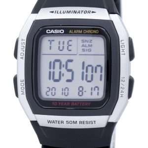 Reloj juvenil Casio Digital alarma Chrono iluminador W-96H-1AVDF W-96H-1AV hombre